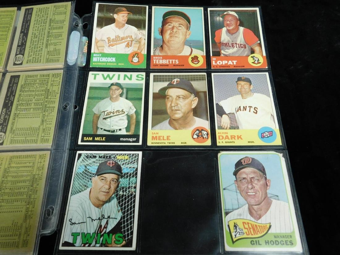 Topps Manager Cards 1960-1963 - 3