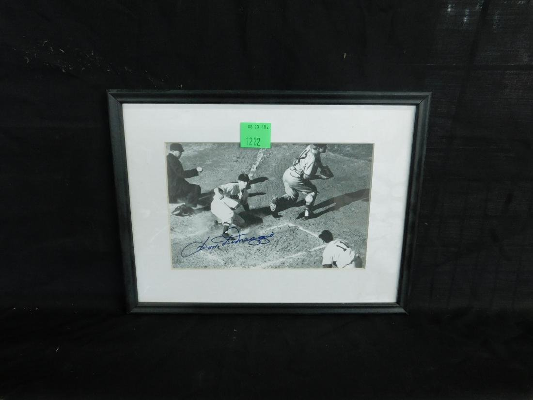 Framed Autographed Photo Dom DiMaggio - 2