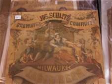 Antique Joseph Schlitz Lager Beer Poster