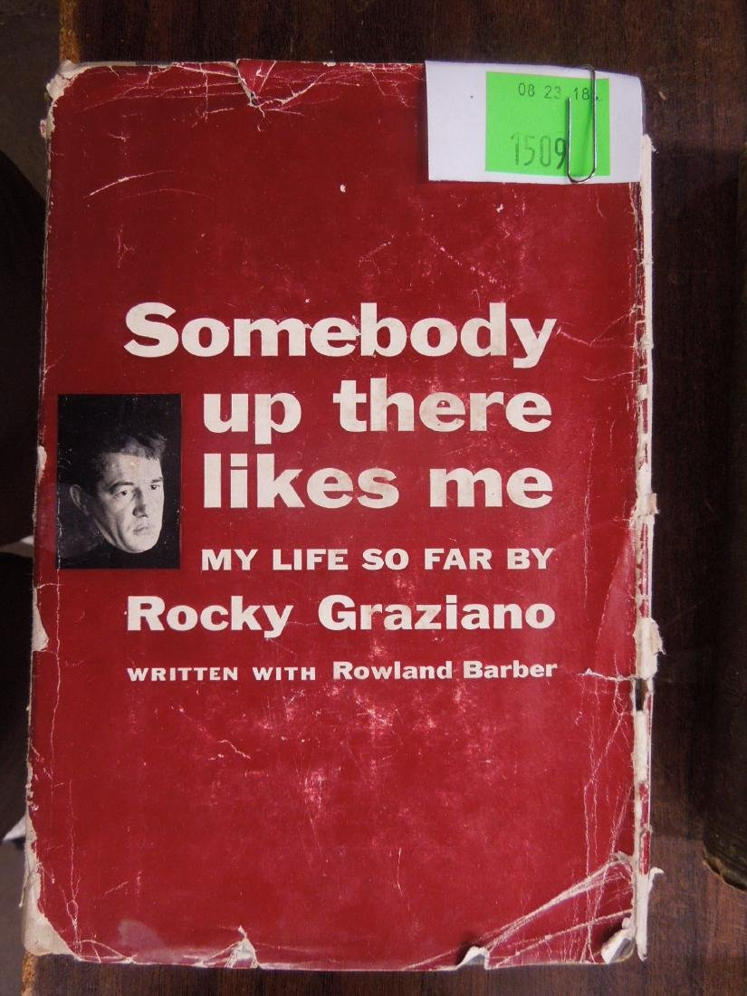 Signed Rocky Graziano Book, 1st Edition