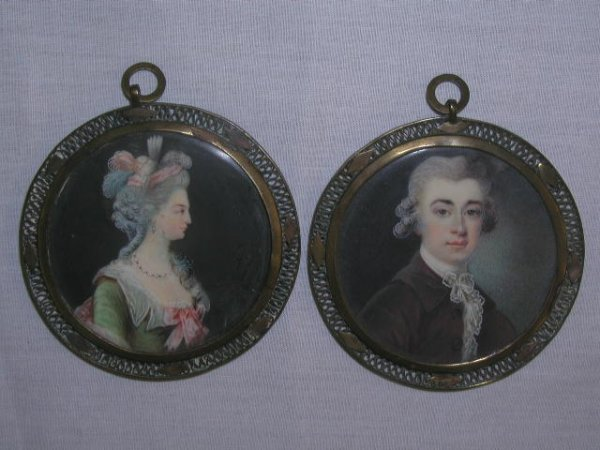 3021: 19th C. portrait paintings on ivory