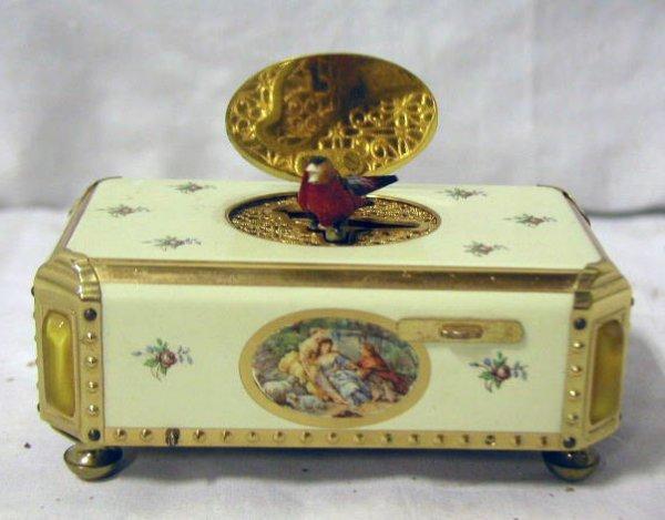 3025: 1950's-60's West German singing bird box