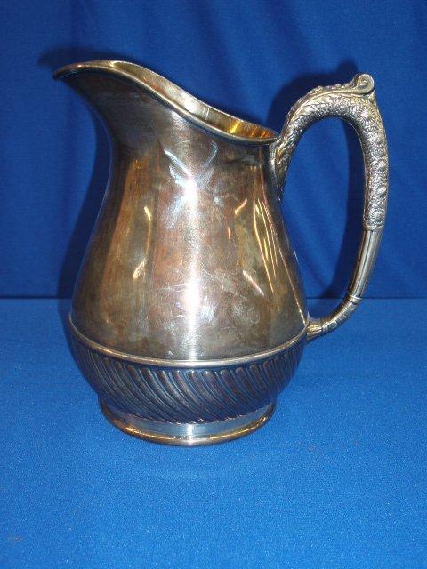 4010: Silverplate water pitcher