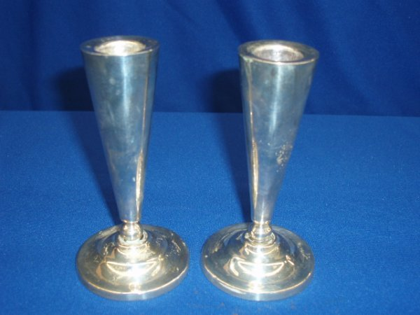 4013: Pr. Sterling candlesticks