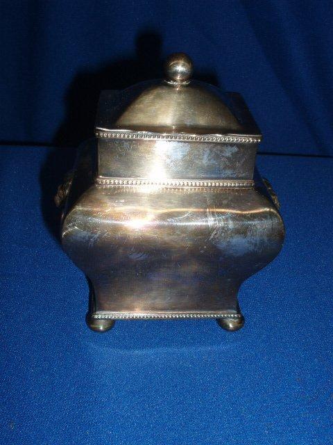 4017: Silverplate tea caddy