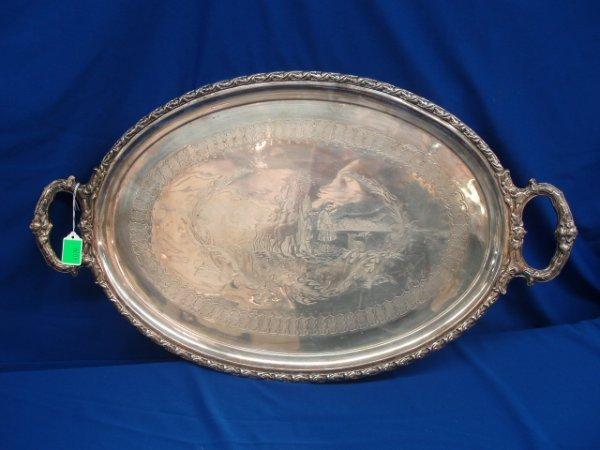 4019: Silverplate platter
