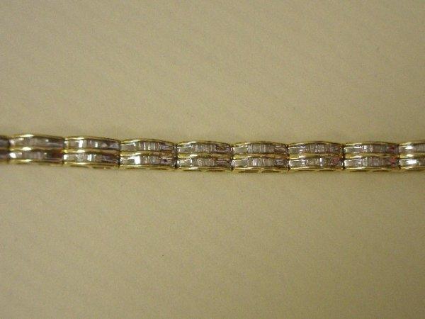 4212: 14K TT diamond bracelet