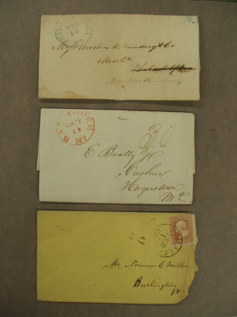 5001: 19th C. letters & envelope