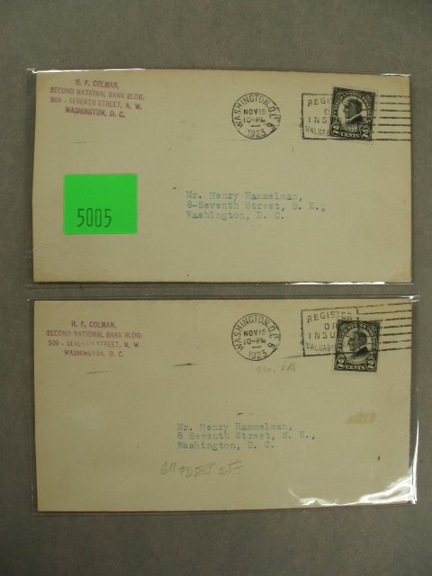 5005: Henry Hammelman first day covers