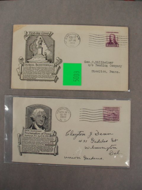 5008: C. Stephen Anderson first day covers