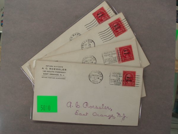 5010: A.C. Roessler first day covers