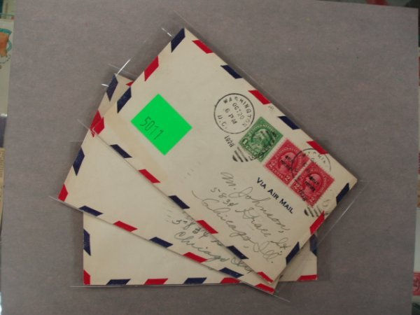 5011: A.C. Roessler air mail covers