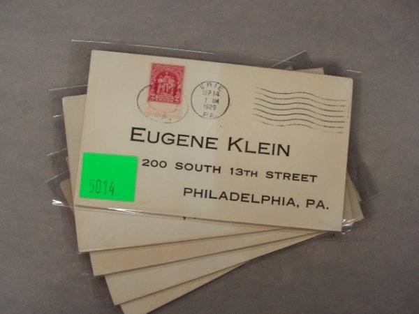 5014: Eugene Klein first day covers
