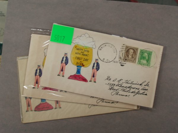 5017: Stephen E. Hutnick first day covers