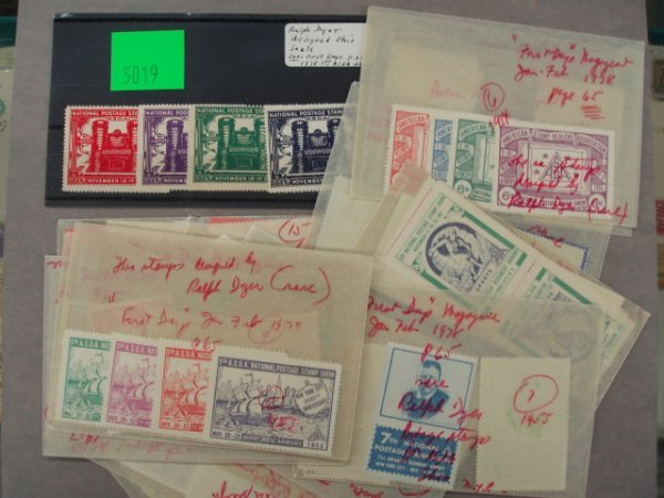 5019: Ralph Dyer designed postage seals