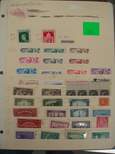 5023: 39 assorted unused foreign stamps