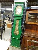 French Morbier clock in tall case