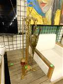 Rococo Style Brass Fireplace Tool Set
