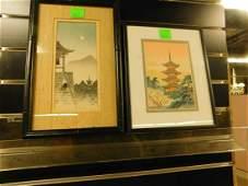 2 Japanese Framed Woodblock Prints