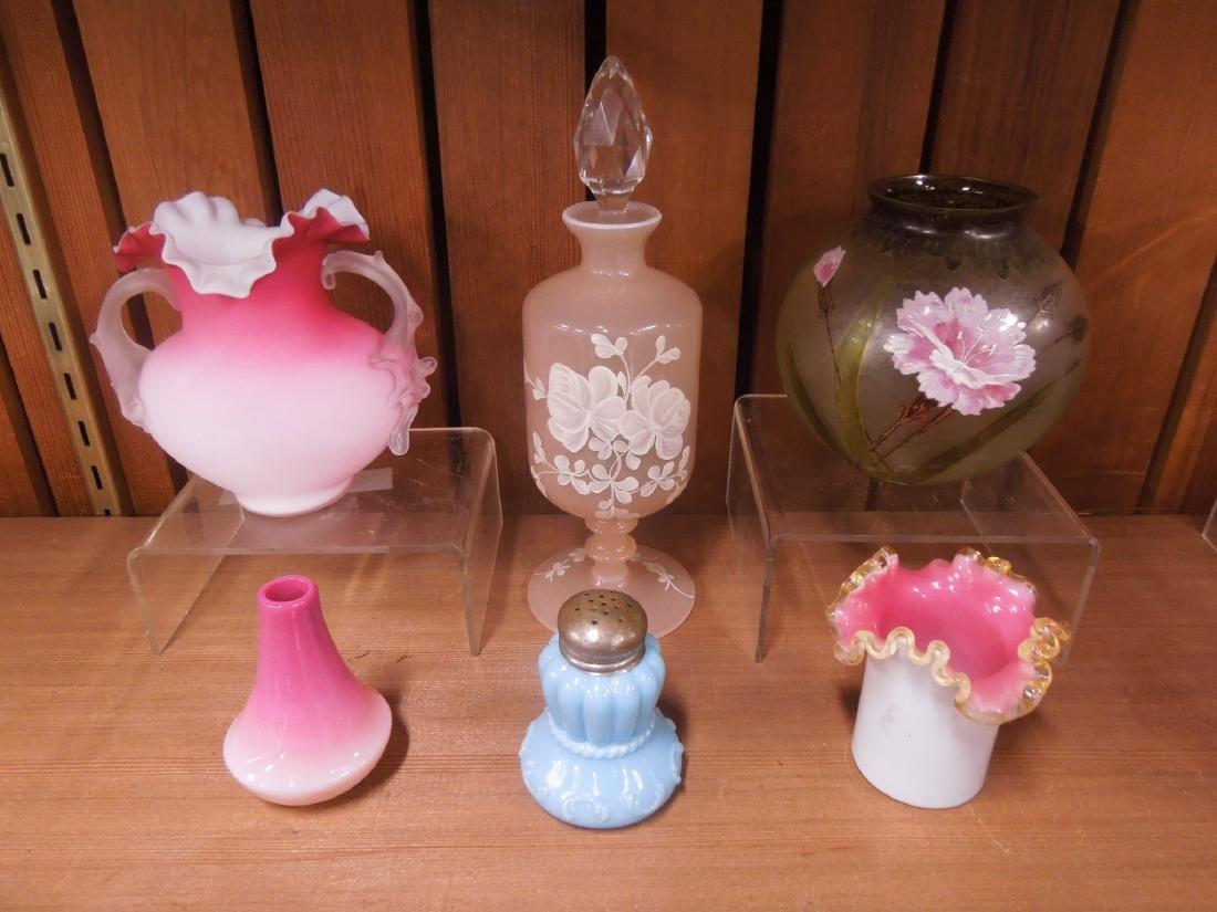 6 Pc Art Glass Group