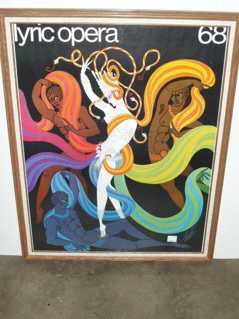 1033: 1968 Erte Lyric Opera poster
