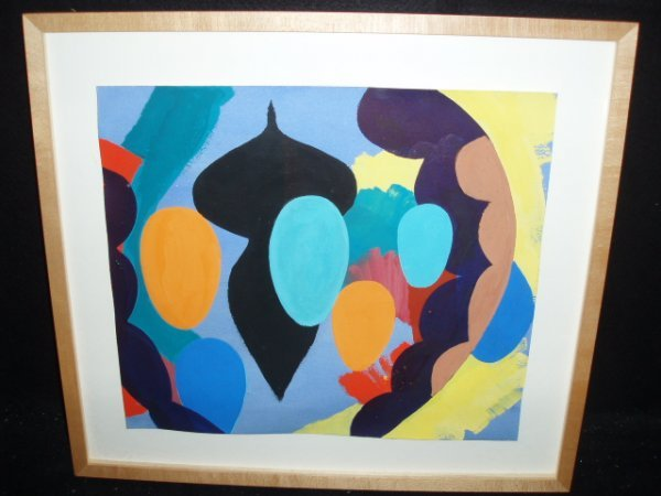 1053: Marc Salz unsigned oil on paper