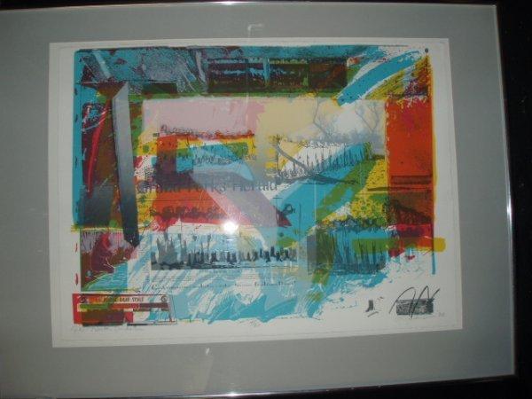 1060: Lois Johnson signed screen print