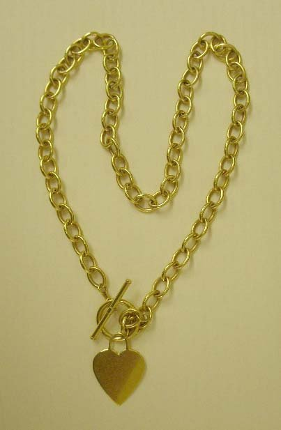 1078: 14k yg choker necklace