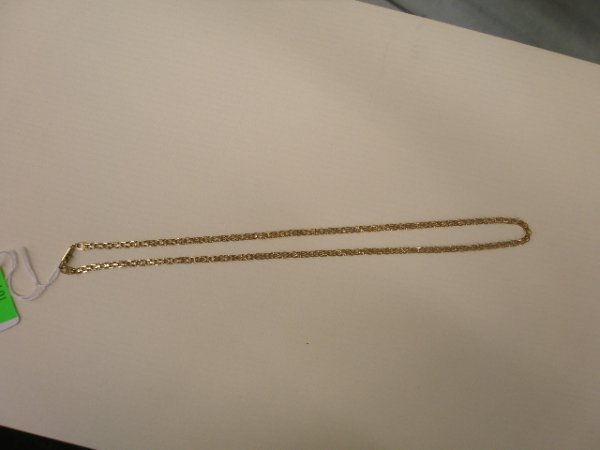 1079: 14k yg neck chain