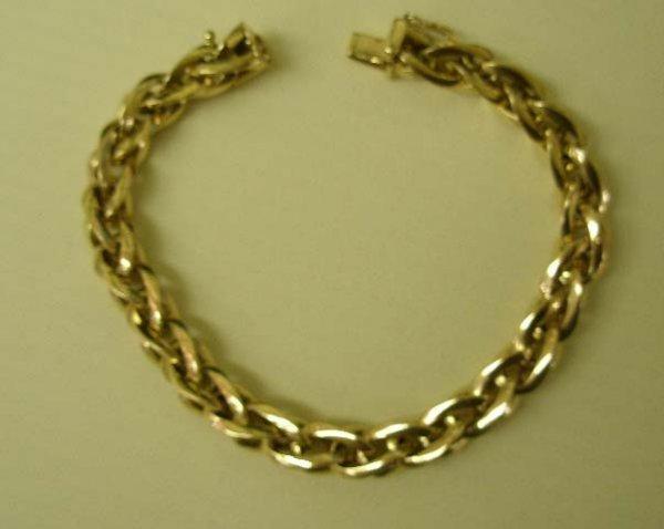 1094: 14k yg bracelet