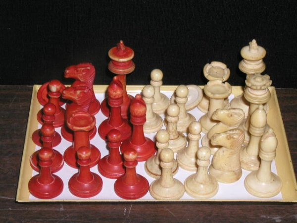 2001: Ivory chess pieces