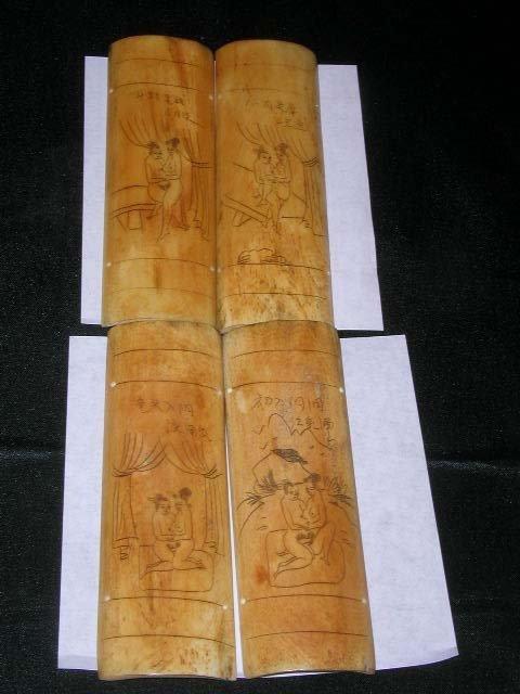 2012: Ivory panels w/erotic scenes