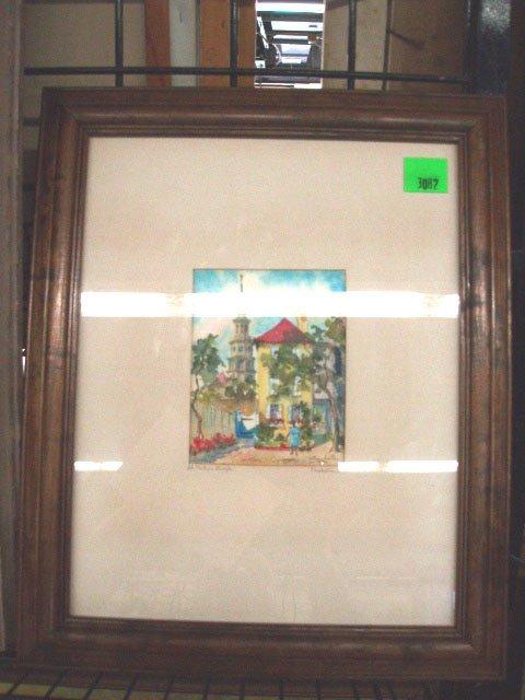 3082: de May Smith, signed, watercolor