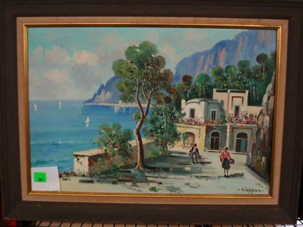 3085: Ciappa, signed, oil on canvas