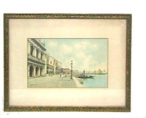 3088: H. Biondetti, signed, watercolor