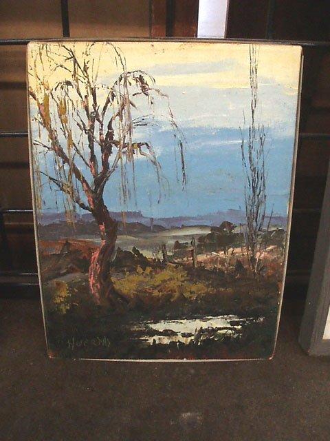 3094: [Segundo] Huertas, signed, acrylic on canvas