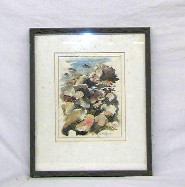 3095: Walter Condit, signed, watercolor over graphite o