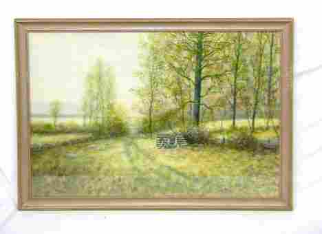 3115: Raphael Senseman, signed, watercolor and gouache