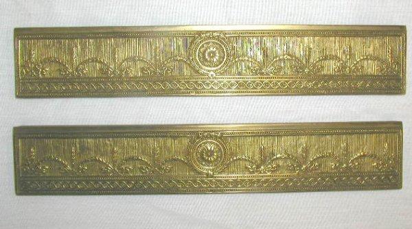 4008: Tiffany Studios bronze blotter tray mounts