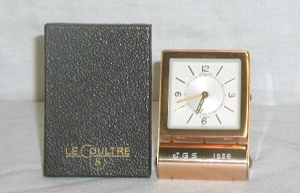 4009: 1958 Le Coultre 8 day alarm clock