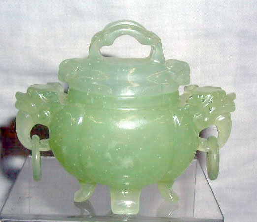 4010: Jade footed covered jar