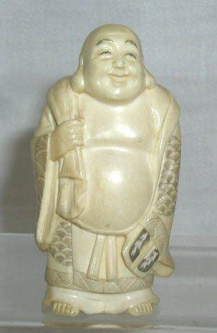 4012: Ivory signed Buddha