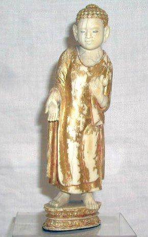 4017: Ivory standing Buddha