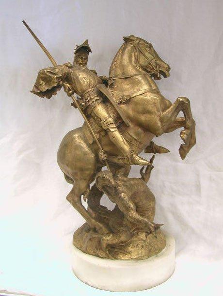 4040: E [manuel] Fremiet bronze sculpture