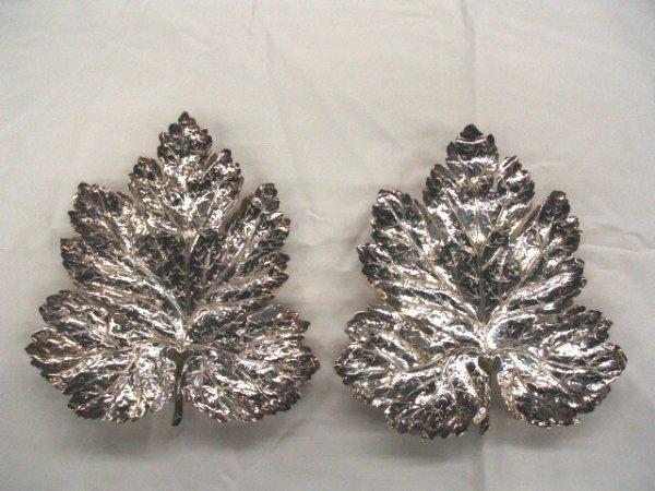 5014: Sterling leaf form plates