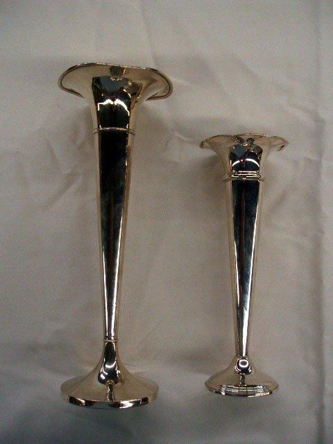5015: 2 sterling vases