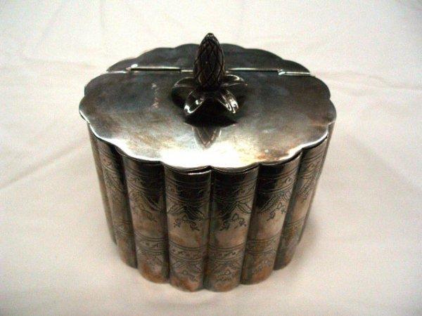 5018: Silverplate tea caddy
