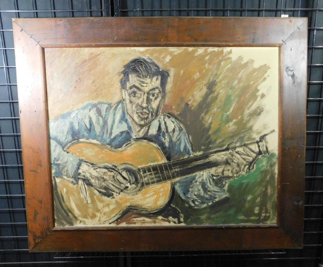 Russell Hoban o/c Portrait of a Folk Singer