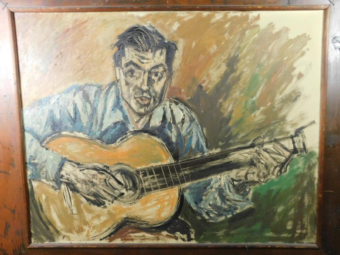Russell Hoban o/c Portrait of a Folk Singer - 2