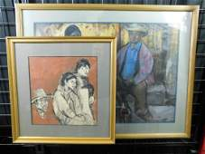 Two Figural Works by Louis Levine